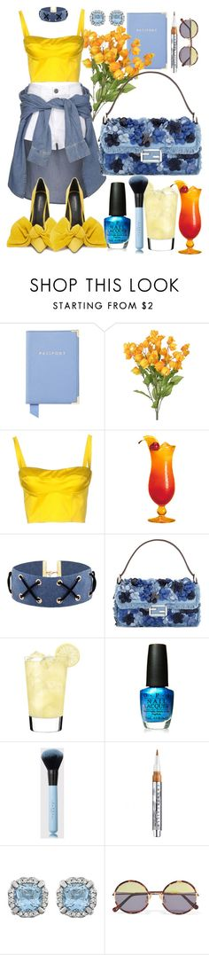 """""""Countdown - Beyonce"""" by annabidel ❤ liked on Polyvore featuring Aspinal of London, River Island, Rachel, Fendi, OPI, Chantecaille and Sunday Somewhere"""