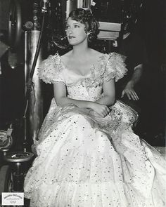 Original 7 x 9 candid photo by MGM photographer Virgil Apger of Jeanette MacDonald on the set of Maytime-ESCANO COLLECTION