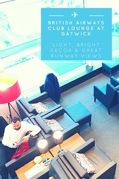 When BA's flights moved to the South Terminal at London Gatwick Airport, the airline could upgrade the tired lounge of the old terminal. The result is the new British Airways Club Lounge at Gatwick, which is 40% bigger & a stylish space to hang out as you wait for your flight.