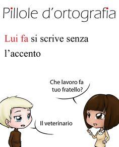 Lui/lei fa, verbo fare, si scrive senza l'accento #italianlanguage #italianlesson #linguaitaliana