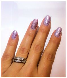 """Zoya """"Kendal"""" and """"Lux"""" stamped with Essie """"Nothing Else Metals."""" Magical pixie dust, nail stamping."""