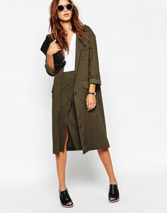 Image 4 of ASOS Military Maxi Blazer co-ord