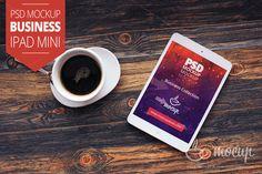 "PSD Mockup iPad Mini Business ""A"" by Mocup, mockupdeals.com on Creative Market"