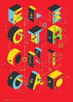 Electronica by Neil Stevens, via Behance