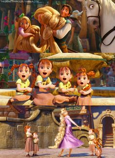 Rapunzel. Love the one little girl on the far right who looks more horrified than excited.