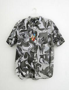 Luck You: Hand Made Button Shirt (Black)