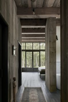 Living Room in MG2 House, Quebec   Alain Carle Architects   est living