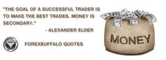 """""""The goal of a successful trader is to make the best trades. Money is secondary."""" - Alexander Elder"""