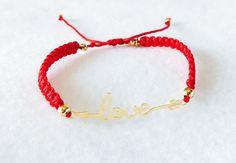 Weekly Bracelet, Red Bracelet, Adjustable Bracelet, Thread Bracelet, Girl Bracelet, Women Bracelet, Gift Birthday, Fashion Bracelet, de ByHS en Etsy