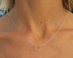 A Simple Circle Necklace by islamoon on Etsy