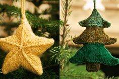 Christmas Star and Tree Knitting Patterns