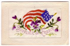 """WWI Souvenir Postcard From France """" Embroidered """""""