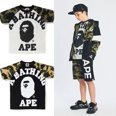 845a38cab eBay #Sponsored A BATHING APE BAPE KIDS 1ST CAMO BIG COLLEGE TEE 2colors  From Japan New
