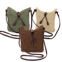 HOT! Straw Shoulder Summer Bag Women Weave Burlap Holiday Beach Lady Handbag #StrawShoulderChina #ShoulderBag #Versatile