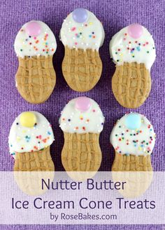 Nutter Butter Ice Cream Cone Treats by Rose Bakes #tutorial
