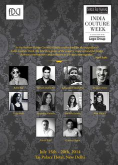 The FDCI announced India Couture Week 2014