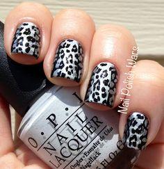 Nail Polish Wars: Lovely Leopard print nail art, stamping using Mash plate Love Nails, How To Do Nails, Fun Nails, Opi, Acryl Nails, Leopard Nails, Manicure Y Pedicure, Trendy Nail Art, Cute Nail Designs