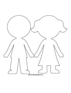boy and girl paper doll pattern to use for paparazzi demo Felt Dolls, Paper Dolls, Girls Holding Hands, All About Me Preschool, Quiet Book Templates, Sunday School Crafts, Busy Book, Colouring Pages, Pre School