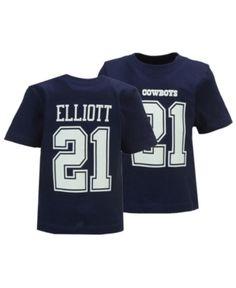 2b91df50473 Authentic Nfl Apparel Ezekiel Elliott Dallas Cowboys Eligible Player Name &  Number T-Shirt, Infants (12-24 Months) - 12 months