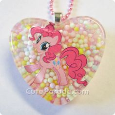 Pinkie Pie Loves Candy Resin Necklace Kawaii Fairy by CuteParade, $12.00 my little pony bronnie