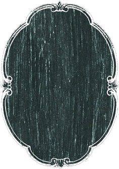 Vertical oval chalkboard tag or label ~ PNG image.
