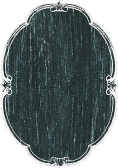 Vertical oval chalkboard tag or label ~ PNG image.