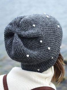 Aikuisen Lumipallo-neulepipo Novita 7 Veljestä   Novita knits