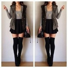 Cute outfit for fall, sans the vest.