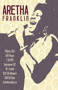 Aretha Franklin — Canadian Concert Poster