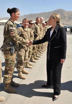 Hillary R. Clinton, Future Commander in Chief.