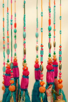 Turquoise home decor-mobile Bells Décor-Wind Chime- Ceiling Decoration-turquoise Beaded Hanging Mobile-Blue windchime-unique wind chimes by RONITPETERART on Etsy