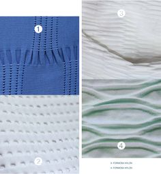 Spinexpo SPINACTIVE WRAP AW16/17 // Power play and high impact sport meet the modelling and manipulating craft of sculpturing. The emphasis shifts to texture to achieve padding and grip and open structures for ventilation where coating is important for  nishing and to provide protection. Cushioning yarns and high stretch materials bring a technical dimension to complement these impact out ts.
