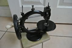 Antique 1870s Wanzer Time Utilizer Sewing Machine on Marble Base by ZionVintageCrafts on Etsy