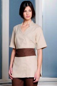 Spa uniform on pinterest treatment rooms salons and for Spa uniform singapore