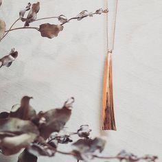 "NEW 🌿 ""Flow"" Pendant in 14K Rose Gold-fill. Available soon at @magpiejewellery ! #rosegold #madeinottawa #ethicallymade #handmade #jewellery #minimalistdesign #wabisabi #boho #simplicityisbeauty"
