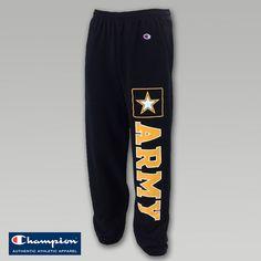 Army Fleece Banded Sweatpants  ArmedForcesGear.com  #armygifts