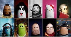 Retratos de celebridades hechas en el dedo humano (Portraits of famous personalities on the human finger)