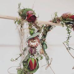 WEDDING FLOWER CROWN F l o r a l S t y l i s t  (@pebbleanddot) Flower Crown Wedding, Wedding Flowers, Buttonholes, Plant Hanger, Floral Wreath, Wreaths, Plants, Instagram, Floral Crown Wedding