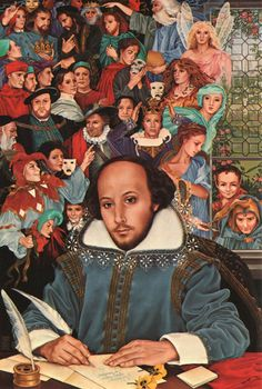 Stratford Shakespeare Festival poster by Heather Cooper, 1988 William Shakespeare, Shakespeare Portrait, Works Of Shakespeare, Shakespeare Festival, Theatre Stage, Music Theater, Jules Verne, Agatha Christie, Stratford Shakespeare