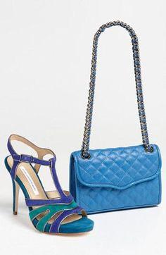 Matched Set: Diane Von Furstenberg Sandals & Rebecca Minkoff Quilted Handbag