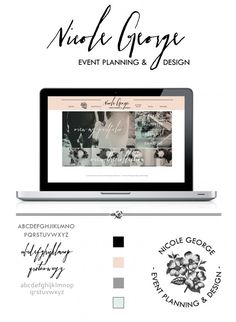 Wedding planner website design.  Custom Prophoto Blog design
