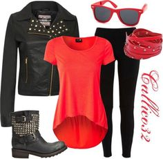 Biker chick by callico32 on Polyvore