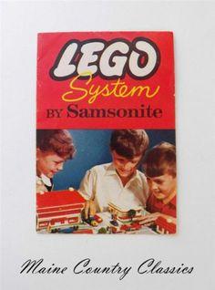 Vintage CA 1955 Lego System by Samsonite Brochure w Town Plan Jr Constructor | eBay