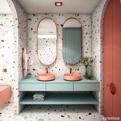 uses for terrazzo Terrazzo, Bathroom Inspiration, Home Decor Inspiration, Bathroom Interior Design, Interior Decorating, Toilet Design, Interior Architecture, Room Decor, Interiors