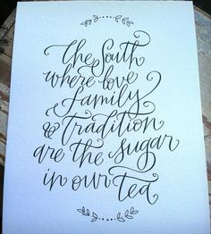 The South Print. Hand-Lettered on this paper. One for me and one for you