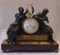 Antique French 18th Century Louis XVIth Library clock. - Gavin Douglas Antiques
