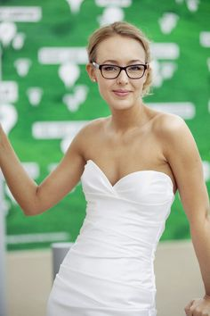 Bride wearing glasses