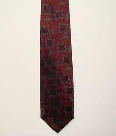 Talbot Studio Carmel Valley Mens 100% Silk Geometric Dress Neck Necktie Tie 58in #RobertTalbott #Tie