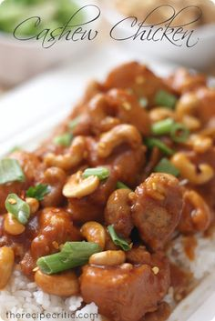 Slow Cooker Cashew Chicken...serve this over rice for a delicious meal!