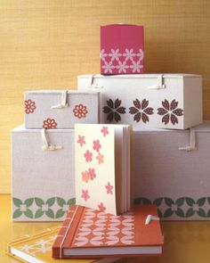 """See the """"Floral Fabric Boxes and Journals"""" in our Craft Punch Projects gallery"""